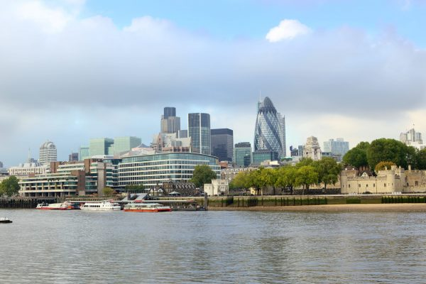 Skyline of London City on the Thames